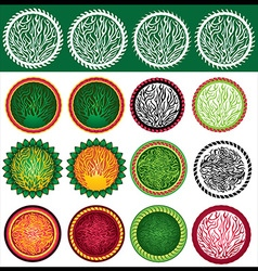 Abstract decorative organic design stamps vector image