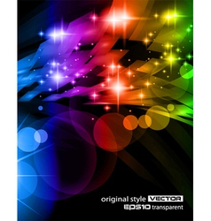 abstract space scenary vector image