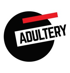Adultery stamp on white vector