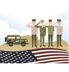 Army forces men design vector