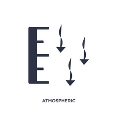 Atmospheric pressure icon on white background vector