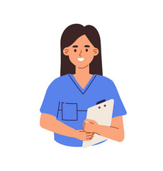 avatar smiling doctor or health worker in vector image
