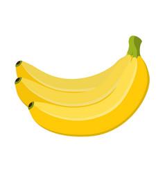 banana cartoon flat style vector image