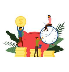 bank financing open a bank deposit financial vector image