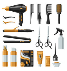 barbershop set professional hairdressing tools vector image