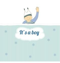 bashower card with little boy sleep vector image