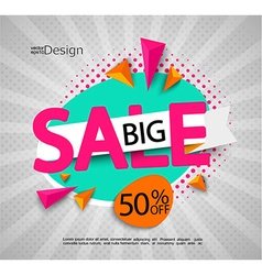 Big sale - bright modern banner vector