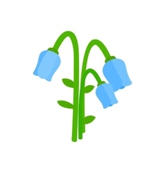 Blue bellflower icon isometric 3d style vector image