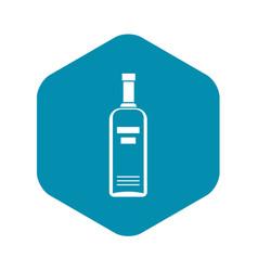 Bottle vodka icon simple style vector