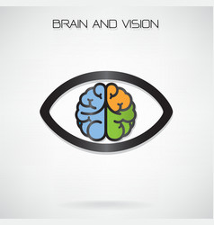 Brain and eye symbol vector
