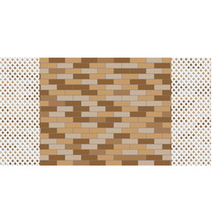 Brick wall with a decorative white grille vector