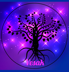 Buddhist holiday - vesak vector