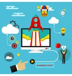 Business start up concept Flat vector image