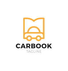 car and open book logo combination vehicle and vector image