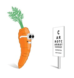 Carrot for good vision vector