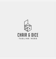 Chair game logo design icon icon isolated vector
