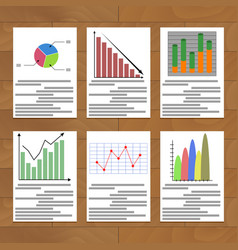 Chart and graph collection vector
