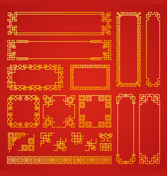 chinese decoration frames traditional oriental vector image