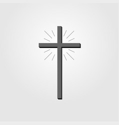 christian cross sign cross icon on white vector image