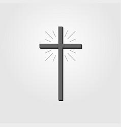 Christian cross sign cross icon on white vector