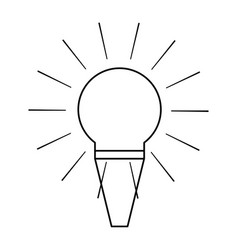 christmas bulb vector image