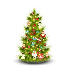Christmas tree on white vector