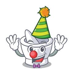 Clown mortar mascot cartoon style vector