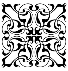 Damask block print vector