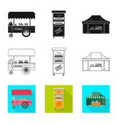 Design of market and exterior logo set of vector