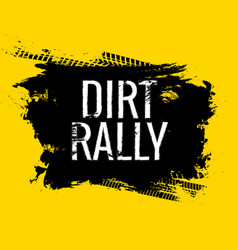 Dirt rally road track tire gringe texture vector