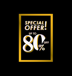 Discount special offer up to 80 off label vector