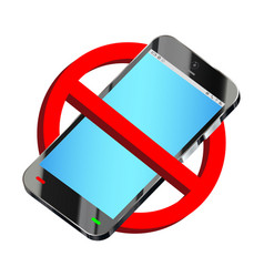 do not use smartphone prohibition sign vector image
