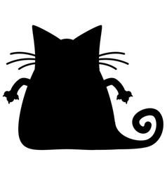 fat cat silhouette vector image