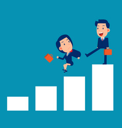 fighting and competition business person punish vector image