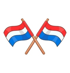 Flag of Netherlands icon cartoon style vector