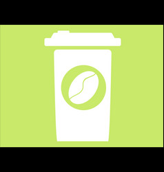 Flat cup coffe icon vector