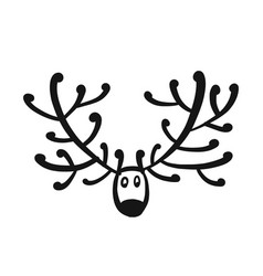 funny deer head sketch for your design vector image