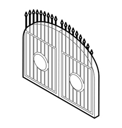 Gate icon outline style vector