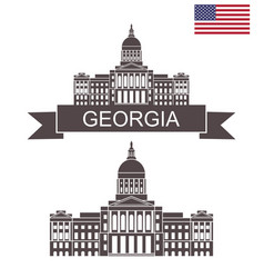 georgia vector image
