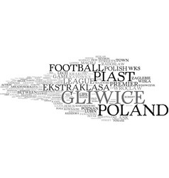 Gliwice word cloud concept vector