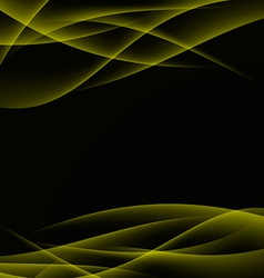 Gold smooth abstract modern wave layout vector