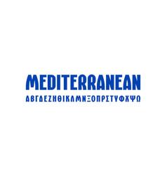 Greek sans serif font in laconic style vector