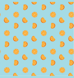 hand drawn fresh oranges seamless pattern doodle vector image