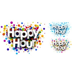 Happy hour colour backgrounds vector