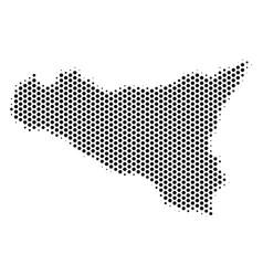 Honeycomb sicilia map vector