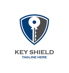key shield logo vector image