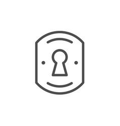 keyhole line icon vector image