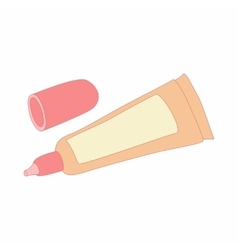 Liquid makeup foundation in a tube icon vector