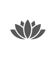 lotus icon on white background vector image