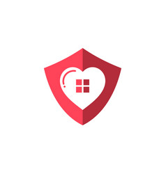 Love home security template vector